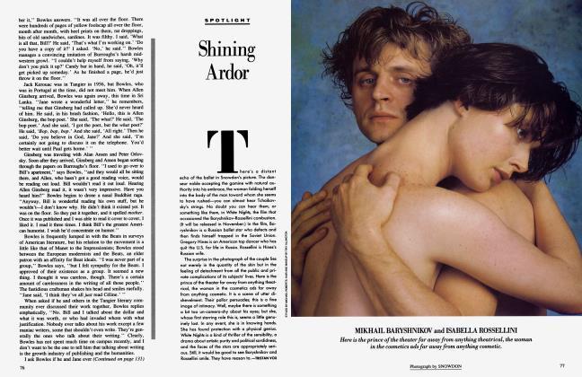 Article Preview: Shining Ardor, September 1985 1985 | Vanity Fair