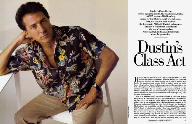 Article Preview: Dustin's Class Act, September 1985 | Vanity Fair