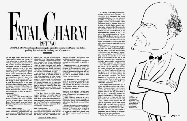 Article Preview: FATAL CHARM PART TWO, September 1985 | Vanity Fair