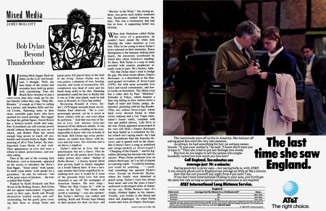 Article Preview: Bob Dylan Beyond Thunderdome, October 1985 1985 | Vanity Fair