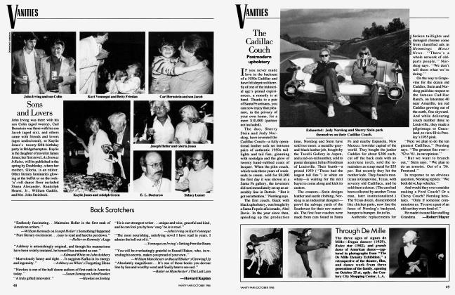 Article Preview: Back Scratchers, October 1985 1985 | Vanity Fair