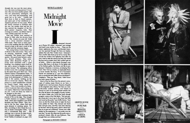 Article Preview: Midnight Movie, October 1985 1985 | Vanity Fair