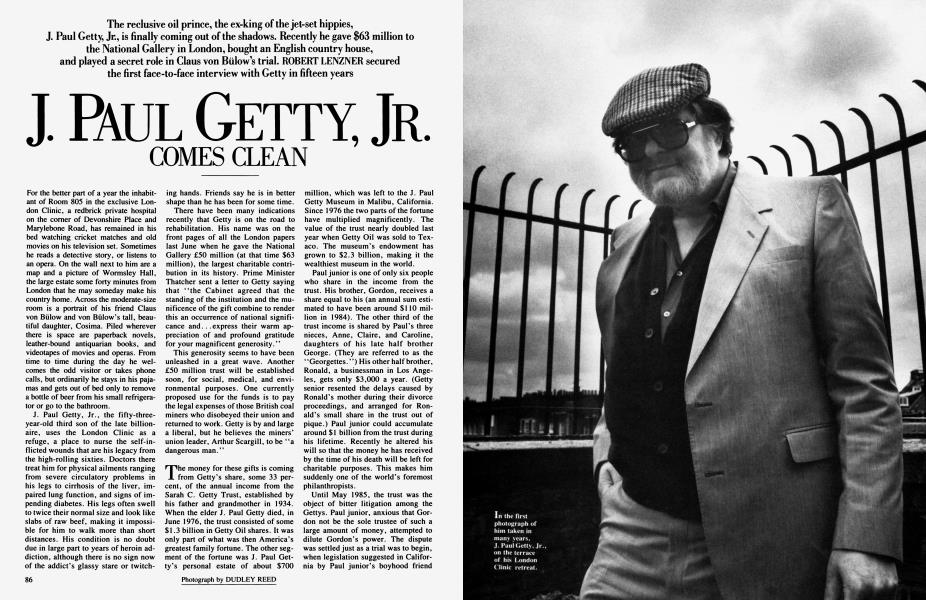J. PAUL GETTY, JR. COMES CLEAN