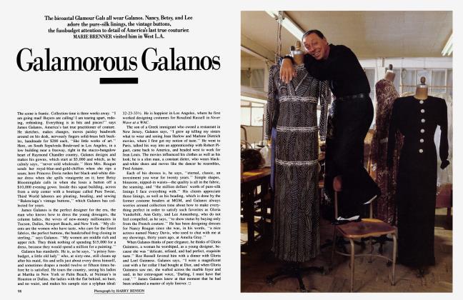 Article Preview: Galamorous Galanos, November 1985 1985 | Vanity Fair