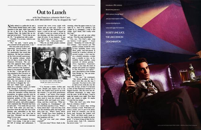 Article Preview: Out to Lunch, November 1985 1985 | Vanity Fair