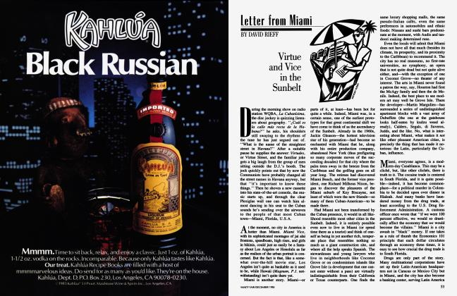 Article Preview: Virtue and Vice in the Sunbelt, December 1985 1985 | Vanity Fair