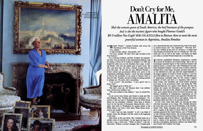Article Preview: Don't Cry for Me, AMALITA, December 1985 1985 | Vanity Fair
