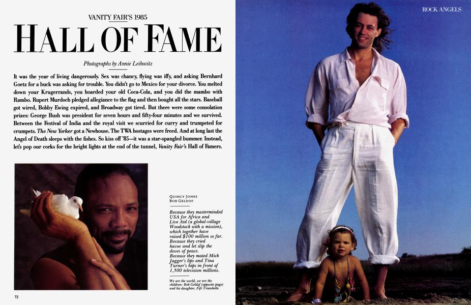 VANITY FAIR'S 1985 HALL OF FAME