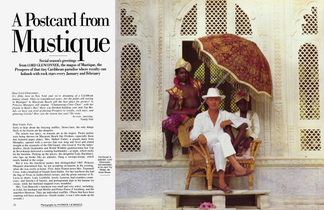Article Preview: A Postcard from Mustique, January 1986 1986 | Vanity Fair