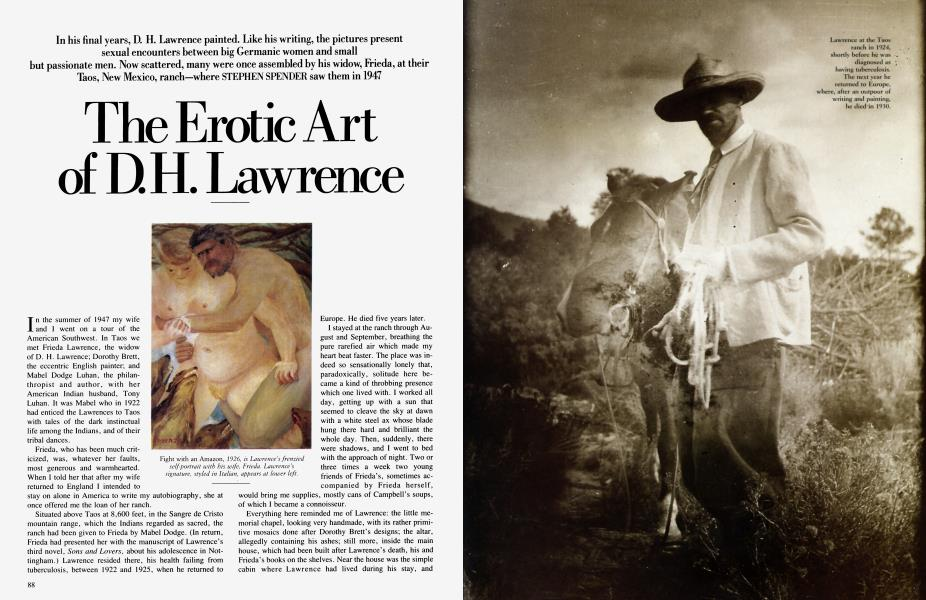 The Erotic Art of D.H. Lawrence