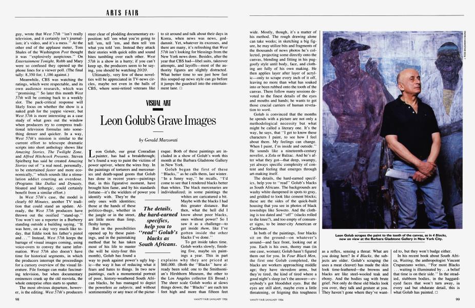 Leon Golub's Grave Images