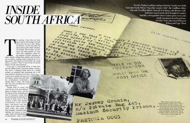 Article Preview: INSIDE SOUTH AFRICA, February 1986   Vanity Fair