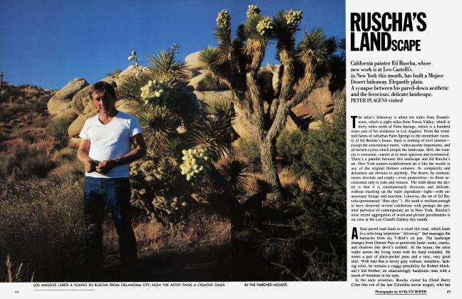 Article Preview: RUSCHA'S LANDSCAPE, February 1986   Vanity Fair