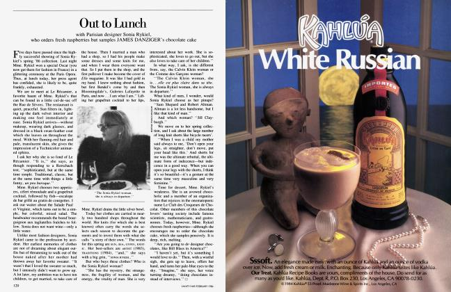 Article Preview: Out to Lunch, February 1986 1986 | Vanity Fair