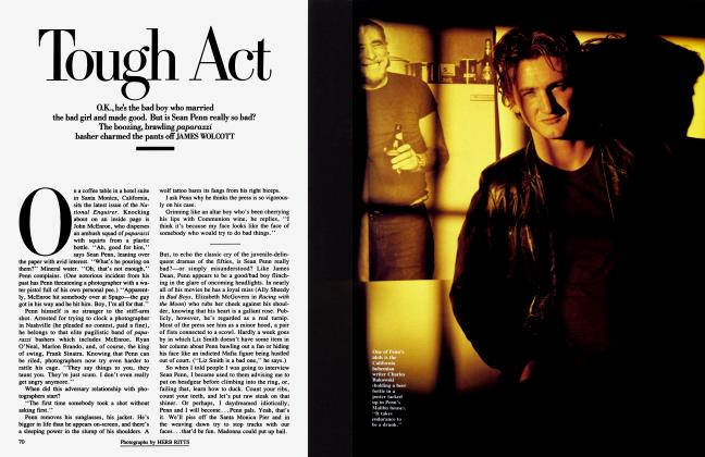 Article Preview: Tough Act, March 1986 1986 | Vanity Fair