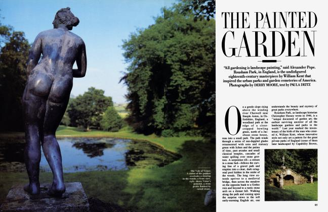 Article Preview: THE PAINTED GARDEN, April 1986 | Vanity Fair