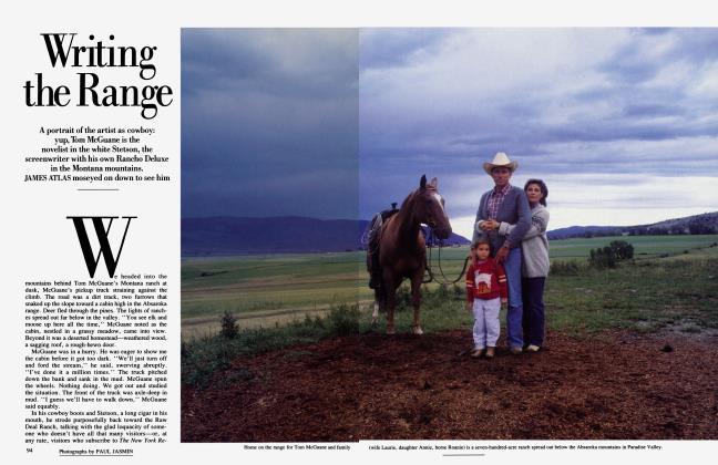 Article Preview: Writing the Range, April 1986 | Vanity Fair