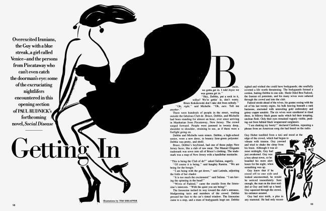 Article Preview: Getting In, April 1986 1986 | Vanity Fair