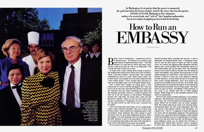 Article Preview: How to Run an EMBASSY, April 1986 | Vanity Fair