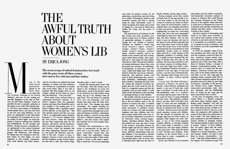 THE AWFUL TRUTH ABOUT WOMEN'S LIB