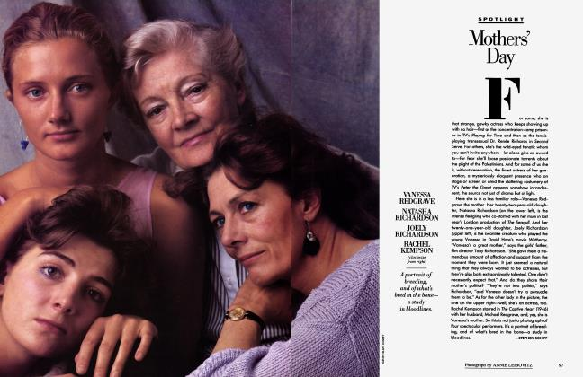 Article Preview: Mothers' Day, May 1986 1986 | Vanity Fair
