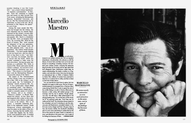 Article Preview: Marcello Maestro, May 1986 1986 | Vanity Fair