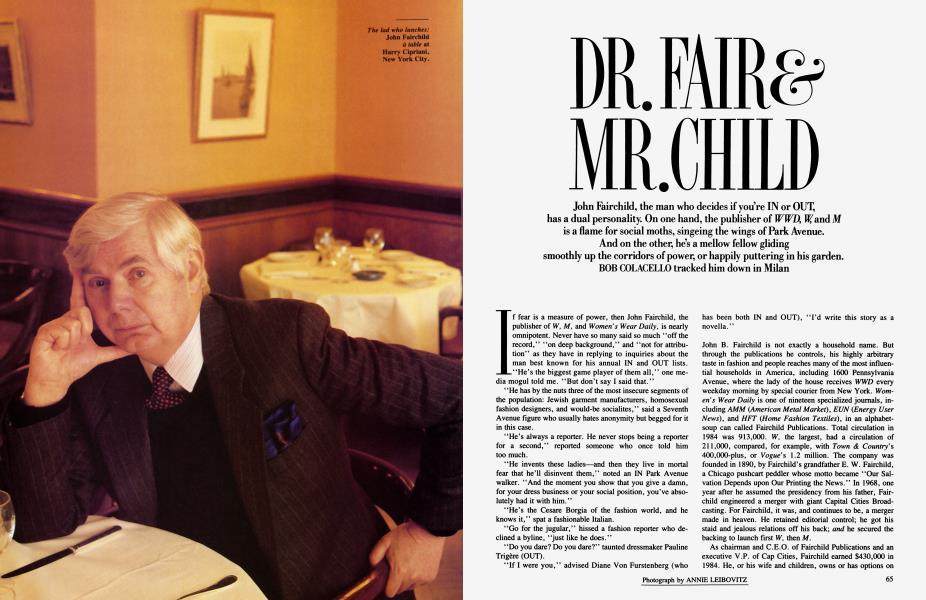 DR. FAIR & MR. CHILD