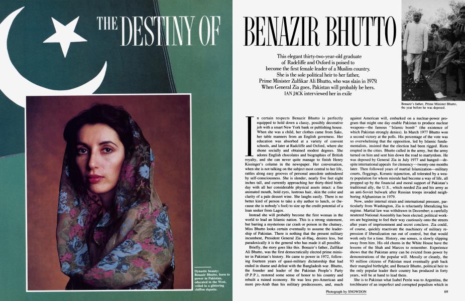 THE DESTINY OF BENAZIR BHUTTO