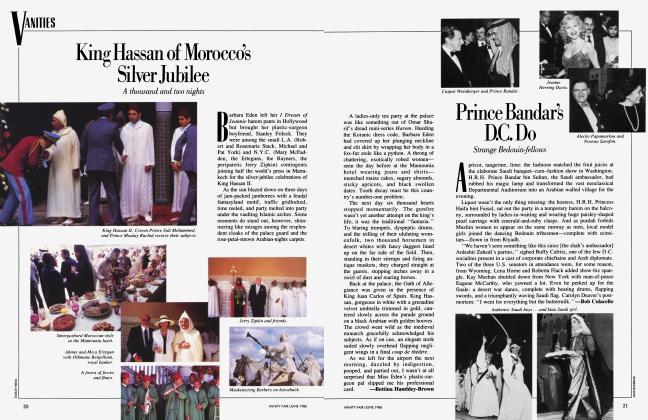 Article Preview: Prince Bandars D.C. Do, June 1986 1986 | Vanity Fair