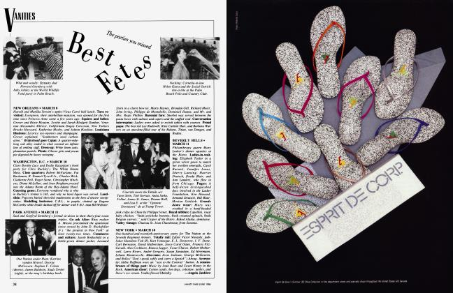 Article Preview: The parties you missed Best Fêtes, June 1986 1986 | Vanity Fair
