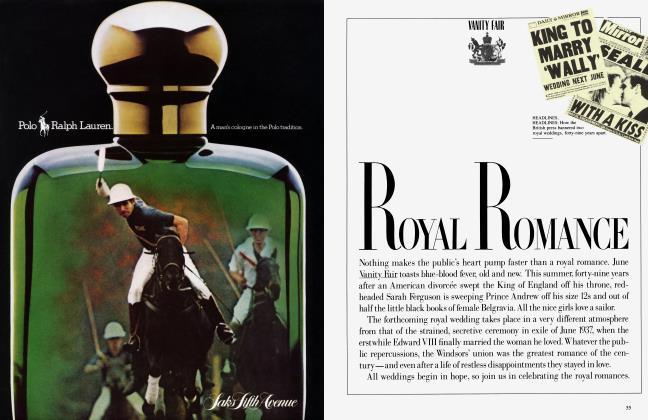Article Preview: ROYAL ROMANCE, June 1986 1986 | Vanity Fair