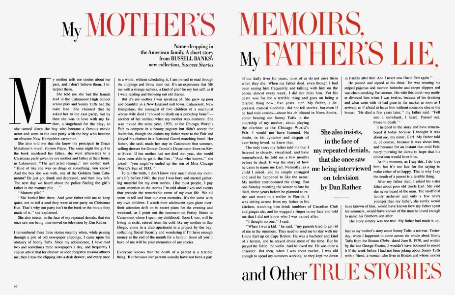 My MOTHER'S MEMOIRS, My FATHER'S LIE, and other TRUE STORIES