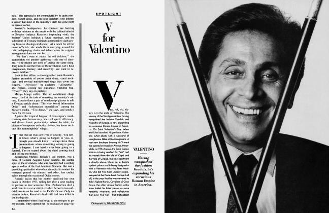 Article Preview: V for Valentino, July 1986 1986 | Vanity Fair