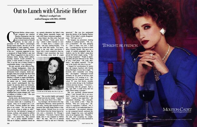 Article Preview: Out to Lunch with Christie Hefner, July 1986 1986   Vanity Fair