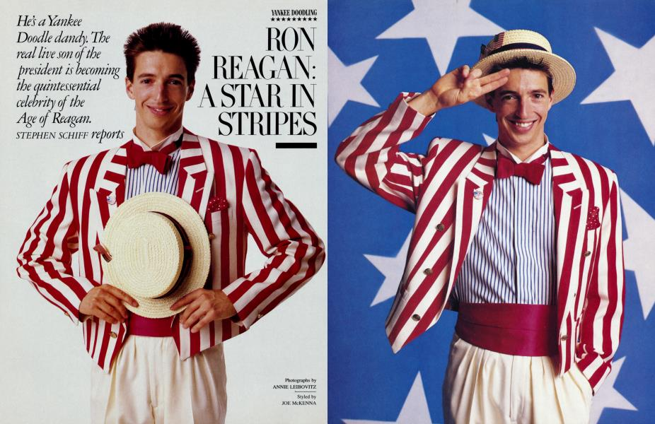 YANKEE DOODLING RON REAGAN: A STAR IN STRIPES