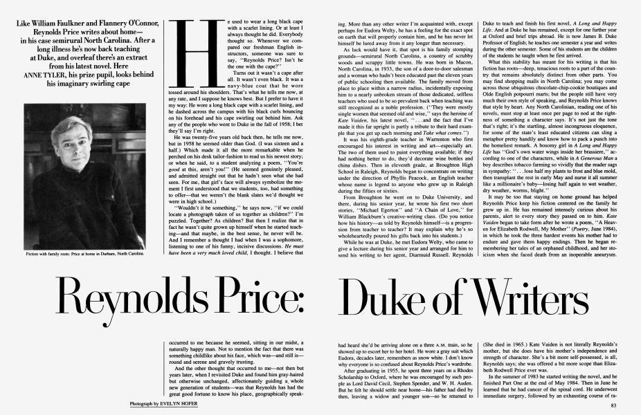 Reynolds Price: Duke of Writers