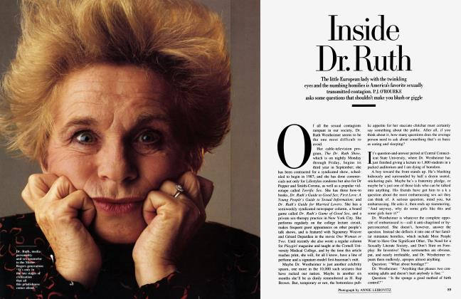 Article Preview: Inside Dr. Ruth, August 1986 1986 | Vanity Fair