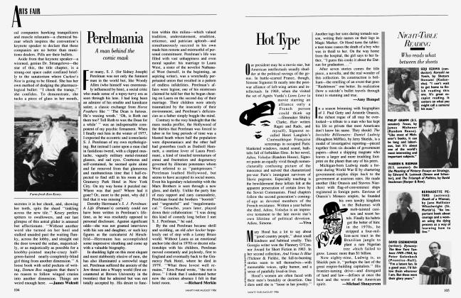 Article Preview: Hot Type, August 1986 1986 | Vanity Fair