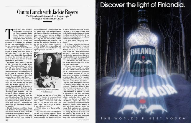 Article Preview: Out to Lunch with Jackie Rogers, August 1986 1986 | Vanity Fair
