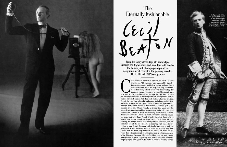 The Eternally Fashionable Cecil Beaton