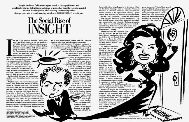 Article Preview: The Social Rise of INSIGHT, September 1986 1986 | Vanity Fair
