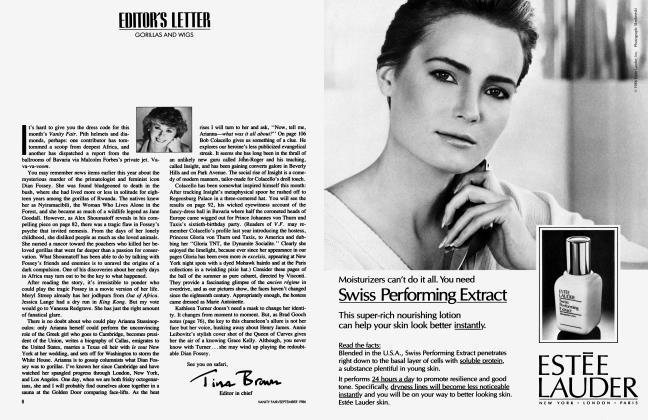 Article Preview: EDITOR'S LETTER, September 1986 1986 | Vanity Fair