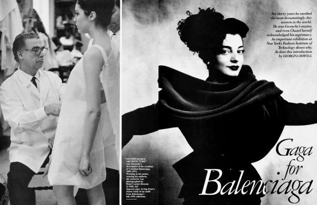 Article Preview: Gaga for Balenciaga, September 1986 1986 | Vanity Fair