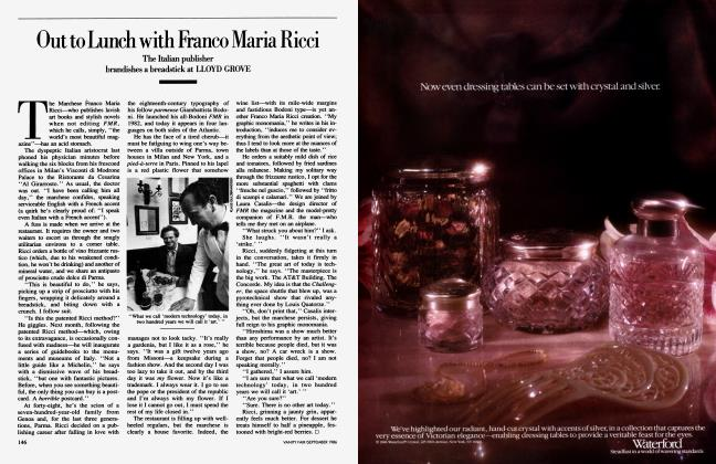 Article Preview: Out to Lunch with Franco Maria Ricci, September 1986 1986 | Vanity Fair