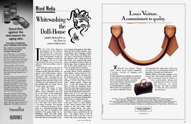 Article Preview: Whitewashing the Doll's House, October 1986 1986 | Vanity Fair