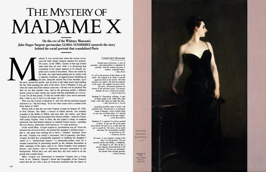 THE MYSTERY OF MADAME X