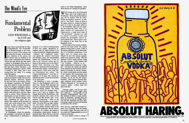 Article Preview: Fundamental Problem, November 1986 1986 | Vanity Fair