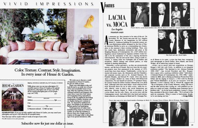 Article Preview: LACMA vs. MOCA, November 1986 1986 | Vanity Fair