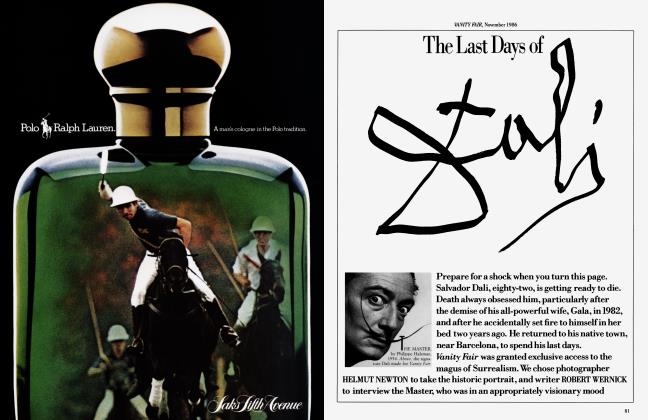 Article Preview: The Last Days of Dali, November 1986 1986 | Vanity Fair