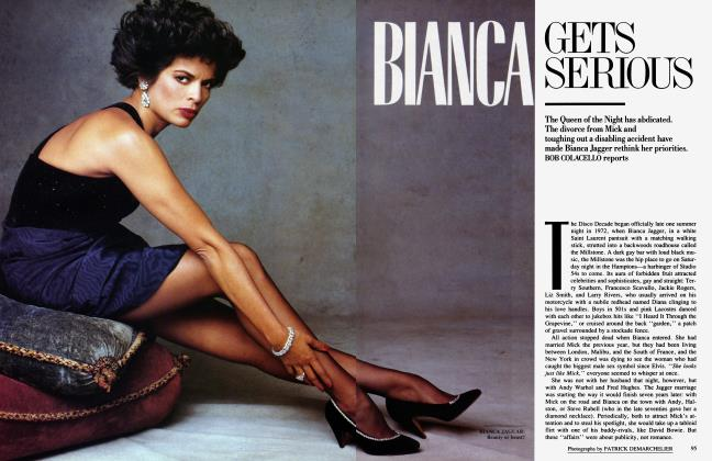 Article Preview: BIANCA GETS SERIOUS, November 1986 1986 | Vanity Fair